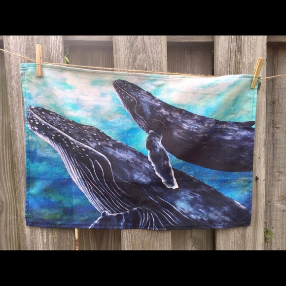 Tea towels, handmade by me , marine inspired, NEW
